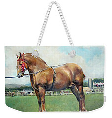 Weekender Tote Bag featuring the painting The Champ by Donna Tucker