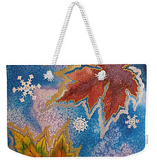 Weekender Tote Bag featuring the painting The Change by Margaret Bobb