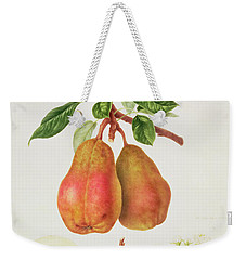 The Chaumontelle Pear Weekender Tote Bag by William Hooker