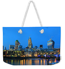 The Cheesegrater And The Walkie Talkie Weekender Tote Bag by Jasna Buncic