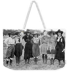 The Cheyenne Rodeo Roundup Cowgirls Weekender Tote Bag