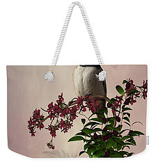 The Chickadee Weekender Tote Bag by Davandra Cribbie