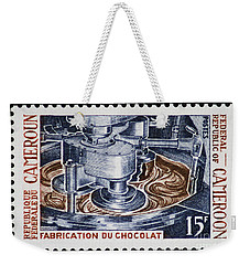 The Chocolate Factory Vintage Postage Stamp Weekender Tote Bag