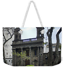 Weekender Tote Bag featuring the photograph The Church Green by Lynn Palmer