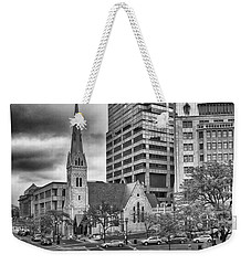 Weekender Tote Bag featuring the photograph The Church by Howard Salmon