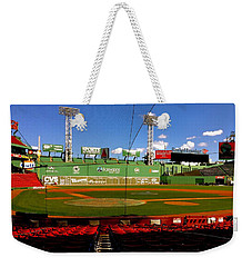 Weekender Tote Bag featuring the photograph The Classic  Fenway Park by Iconic Images Art Gallery David Pucciarelli