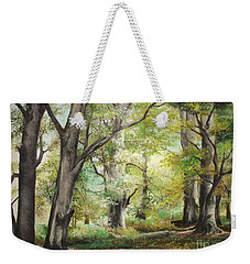 Weekender Tote Bag featuring the painting The Clearing by Sorin Apostolescu