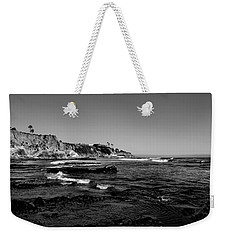 The Cliffs Of Pismo Beach Bw Weekender Tote Bag