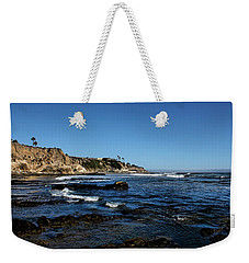 The Cliffs Of Pismo Beach Weekender Tote Bag by Judy Vincent
