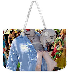 Weekender Tote Bag featuring the photograph The Clown by Ed Weidman