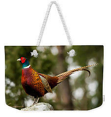The Cock On Top Of The Rock Weekender Tote Bag by Torbjorn Swenelius