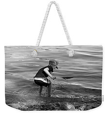 Weekender Tote Bag featuring the photograph  The Collector by Debbie Oppermann