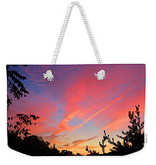 Weekender Tote Bag featuring the photograph The Color Gets Good by Kathryn Meyer