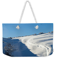 Weekender Tote Bag featuring the photograph The Colors Of Snow by Michael Chatt