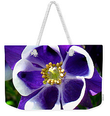 The Columbine Flower Weekender Tote Bag by Patti Whitten