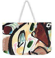 Weekender Tote Bag featuring the painting The Conversation 2 by Stephen Lucas