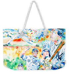 the CORE FOUR - watercolor portrait.2 Weekender Tote Bag by Fabrizio Cassetta