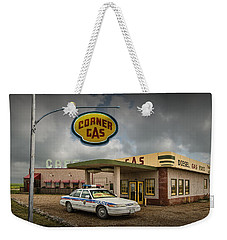 The Corner Gas Station From The Canadian Tv Sitcom Weekender Tote Bag