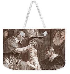 The Coronation Of Henry Vi, Engraved Weekender Tote Bag by John Opie