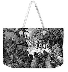 The Council Held By The Rats Weekender Tote Bag by Gustave Dore