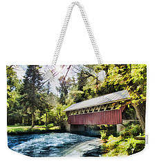 The Covered Bridge At The Red Mill Weekender Tote Bag
