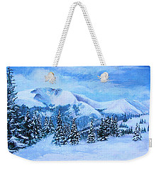 Weekender Tote Bag featuring the painting The Covering by Margaret Bobb