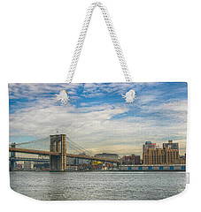 Weekender Tote Bag featuring the photograph The Crossing by Ben Shields