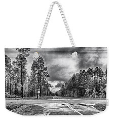 Weekender Tote Bag featuring the photograph The Crossroads by Howard Salmon