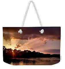 Weekender Tote Bag featuring the photograph The Cumberland River by Chris Tarpening