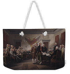 The Declaration Of Independence, July 4, 1776 Weekender Tote Bag by John Trumbull