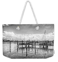 Weekender Tote Bag featuring the photograph The Dock by Howard Salmon