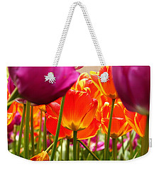 The Drooping Tulip Weekender Tote Bag by Catie Canetti