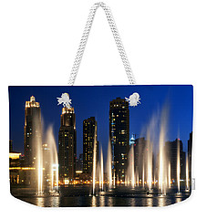 The Dubai Fountains Weekender Tote Bag