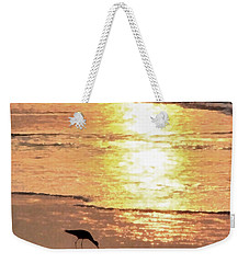 Weekender Tote Bag featuring the photograph The Early Bird by Todd Blanchard