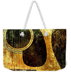 The Edgy Abstract Guitar Square Weekender Tote Bag