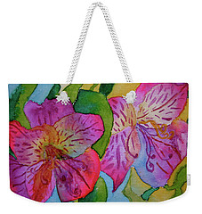 The Electric Kool-aid Alstroemeria Test Weekender Tote Bag
