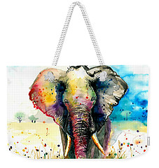 The Rainbow Elephant - Xxl Format Weekender Tote Bag