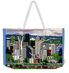 The Emerald City Seattle Weekender Tote Bag