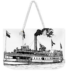 Weekender Tote Bag featuring the drawing The Emma Giles by Ira Shander