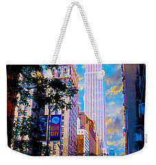The Empire State Building Weekender Tote Bag by Jon Neidert
