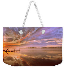 Weekender Tote Bag featuring the photograph The End by Lisa Wooten