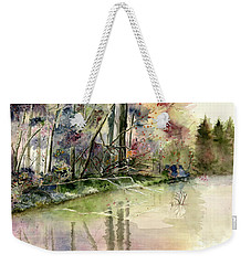 The End Of Wonderful Day Weekender Tote Bag by Melly Terpening