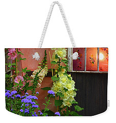 The English Cottage Window Weekender Tote Bag by Dora Sofia Caputo Photographic Art and Design
