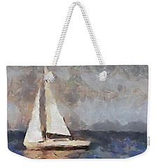 Weekender Tote Bag featuring the painting The Evening Peace  by Dragica  Micki Fortuna