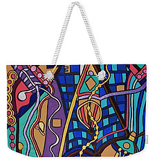 Weekender Tote Bag featuring the painting The Exam by Barbara St Jean