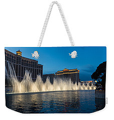 The Fabulous Fountains At Bellagio - Las Vegas Weekender Tote Bag by Georgia Mizuleva