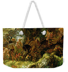 The Fairy Raid Weekender Tote Bag by Sir Joseph Noel Paton