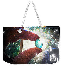 Weekender Tote Bag featuring the photograph The Fairy Stone - Nature Angel  by Absinthe Art By Michelle LeAnn Scott