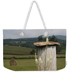 Fall Harvest Weekender Tote Bag by Yvonne Wright