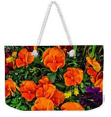 The Fall Pansies Weekender Tote Bag